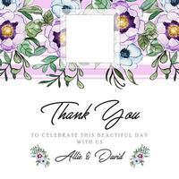 Fundo de aquarela floral Obrigado