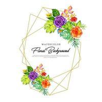 Quadro floral colorido vetor