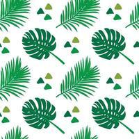 Sem costura padrão tropical. Ornamento de plantas exóticas de verão. vetor