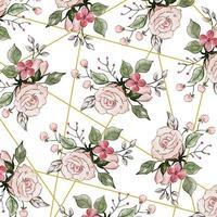 Fundo floral aquarela rosa vetor