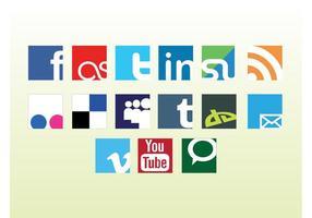 Logótipos sociais do vetor da Web