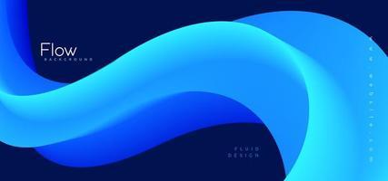 Fundo azul do fluxo vetor