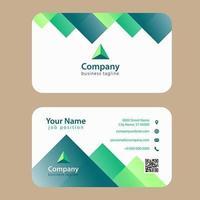Cartão de visita colorido moderno verde