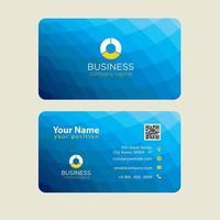 Baixo cartão de visita colorido moderno poli azul