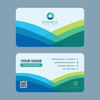 Cartão de visita colorido moderno do verde azul