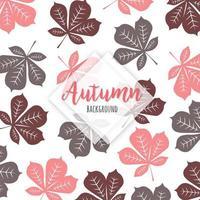 Padrão de folhas caindo marrom e rosa vetor
