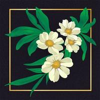 Bela Flor Floral Folha Vintage Vector Natureza