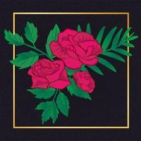 Rosa floral linda