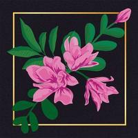 Vintage floral da flor