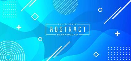 Banner fluido abstrato azul