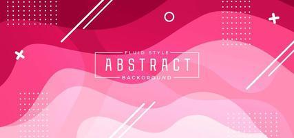 Fundo fluido de onda rosa com formas geométricas