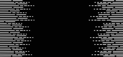 Linhas preto e branco abstraem base vetor