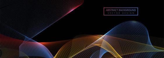 Modelo de banner lindo onda colorida brilhante
