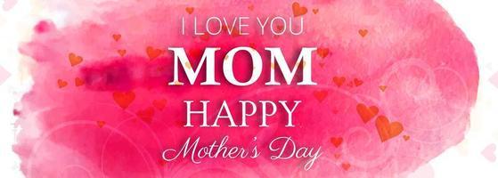Feliz dia das mães lindo modelo aquarela vetor