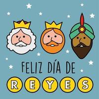 Os três reis do Oriente. Feliz dia dos reis. vetor