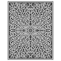 Ilustração de videira desenho madeira esculpida vetor