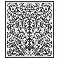 Videiras trançadas e folhas esculpidas padrão de efeito madeira vetor