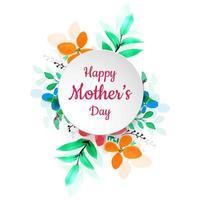 Feliz dia das mães colorido flor fundo vetor
