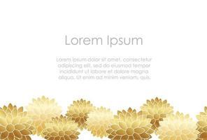 Ano novo japonês cartão modelo de flor de ouro. vetor