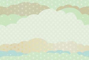 Cartão de corte de papel sem costura japonesa vetor