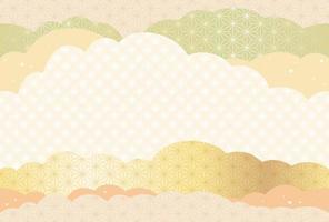 Modelo de corte de papel de ano novo sem costura japonês. vetor