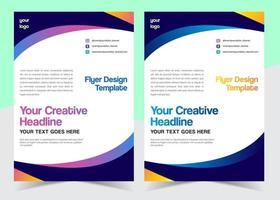Folheto ondulado com cores diferentes