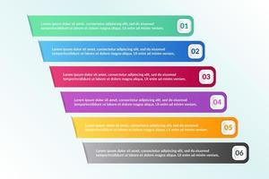 Infográfico design com 6 ícones opções ou etapas vetor