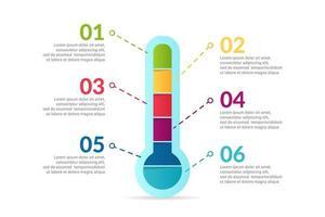 design de infográfico médico com opções ou lista vetor
