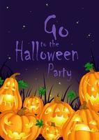 Cartaz de convite para o Halloween vetor