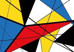 Padrão de triângulo colorido vetor