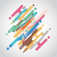 transição diagonal de linhas de formas arredondadas multicoloridas vetor
