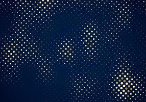 padrão de meio-tom de glitter dourados sobre fundo azul escuro vetor
