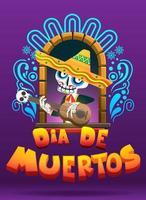 Ilustração em vetor dia de los muertos, dia dos mortos