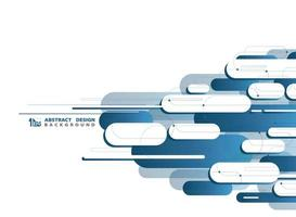 Padrão de forma arredondada geométrica abstrata tecnologia azul vetor