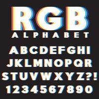 Conjunto de letras CMYK RGB