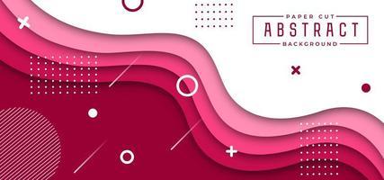 Fundo elegante de corte de papel rosa e branco vetor