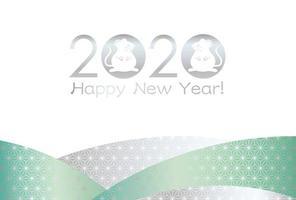 Ano do rato - modelo de cartão de ano novo. vetor