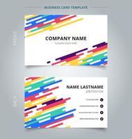 Cartão de visita com linhas arredondadas coloridas vetor
