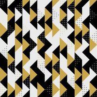 Padrão de pontos pretos listrados triangulares modernos em ouro