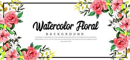Lindo Canto Aquarela Fundo Floral vetor