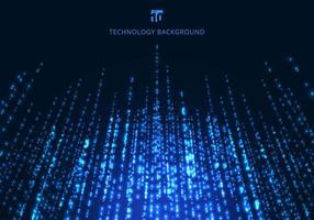 Linhas de partículas abstratas tecnologia mágica azul brilhante cintilante
