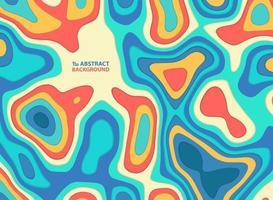Corte de papel abstrato colorido linha ondulada e formas padrão