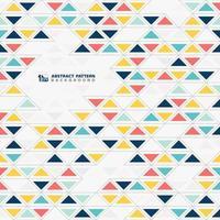 Padrão de triângulos mosaico colorido abstrato