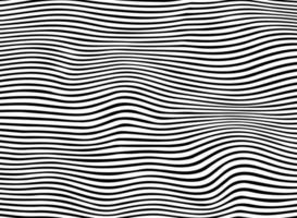 Resumo de padrão de linha ondulada de listra preta vetor