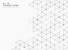 Padrão de mosaico abstrato geométrico gradiente triângulo preto vetor