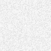 Padrão de meio-tom abstrato ponto radial preto