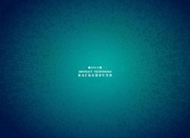Teste padrão abstrato futurista digital círculo quadrado azul