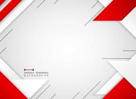 Abstrato futurista geométrico vermelho e branco sci padrão vetor