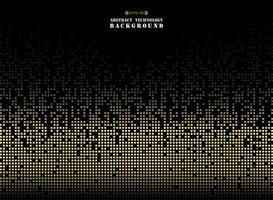 Abstrata tecnologia futurista no padrão quadrado de pixels de cor dourada