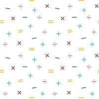 Padrão sem emenda de símbolos matemáticos vetor